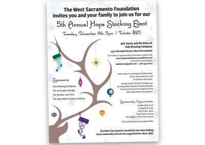 Corporate Design | Events | West Sacramento Foundation Flier | West Sacramento