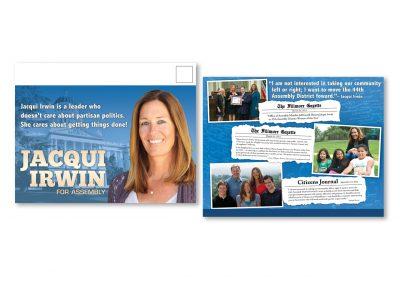Political Design | Campaign Mailer | Jacqui Irwin | Fillmore