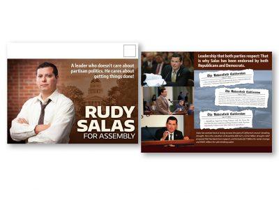 Political Design | Campaign Mailer | Rudy Salas | Bakersfield