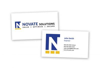 Corporate Design | Business Card | Novate Solutions | West Sacramento