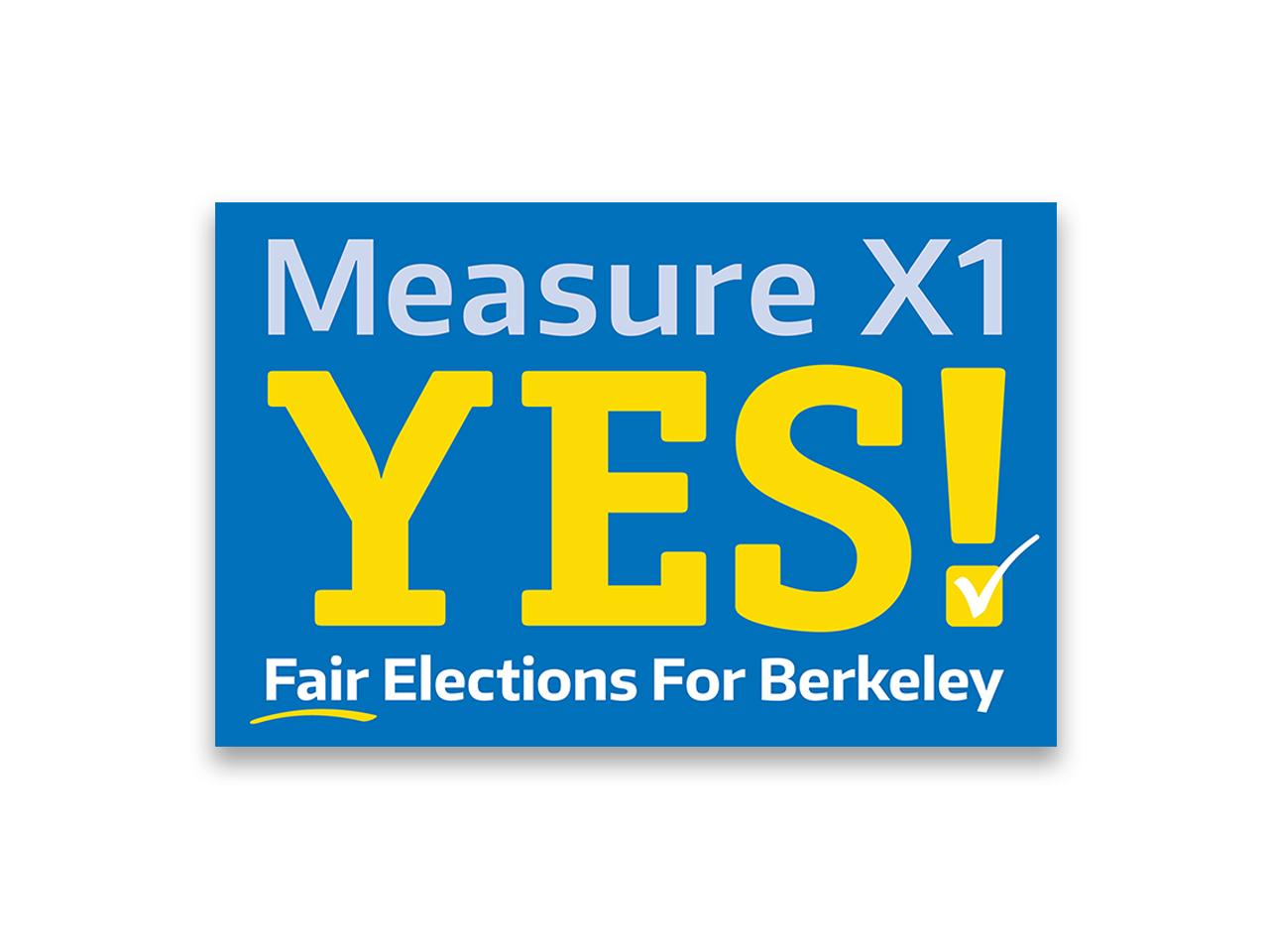 Political Design | Campaign Logo Measure X1 Sacramento