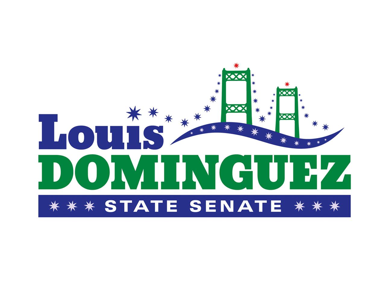 Political Design | Campaign Logo Louis Dominguez Sacramento