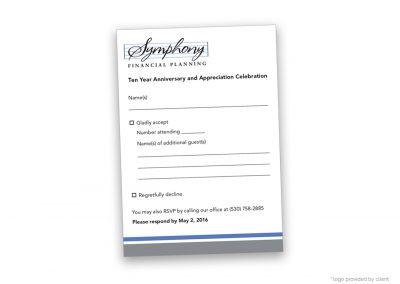 Corporate Design | Events | Symphony Financial RSVP Card | Davis