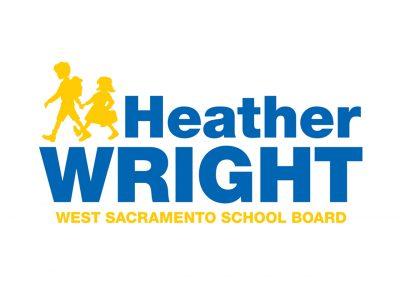 Political Design | Candidate Logos | Heather Wright | West Sacramento