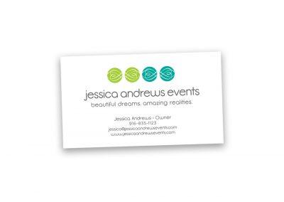 Corporate Design | Business Card | Jessica Andrews Events | Folsom