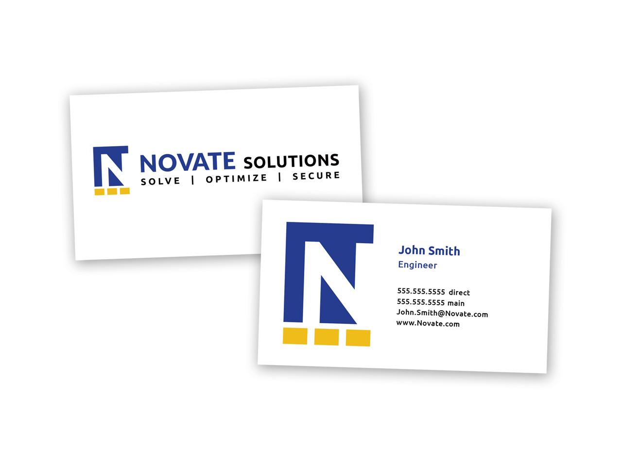 Corporate Design | Business Card Novate Solutions Sacramento