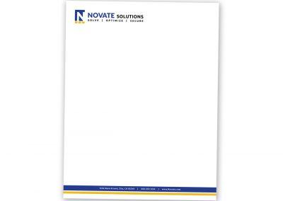 Corporate Design | Letterhead | Novate Solutions | West Sacramento