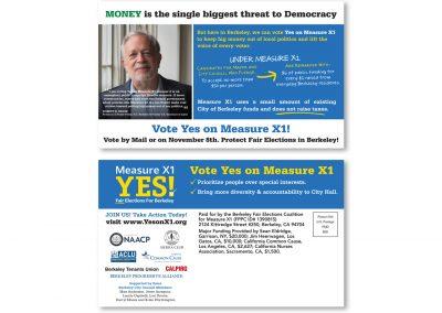 Political Design | Campaign Mailer | Measure X1 | Berkeley