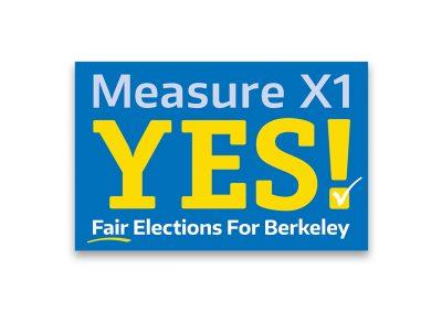 Political Design | Campaign Logos | Measure X1 | Berkeley