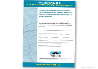 Political Design | Endorsement Form | Yes on Measure B | Sacramento